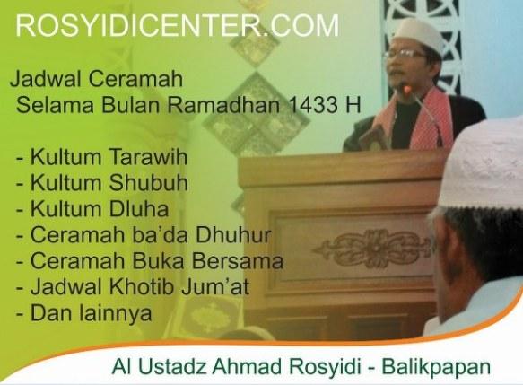 Al Ustadz Ahmad Rosyidi Balikpapan